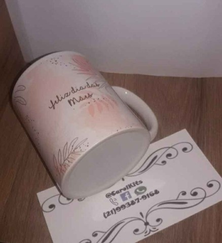 Caneca porcelana personalizada dia das mães - Foto 2