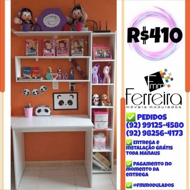 56. Promoção Kit Escritório = Mesa+Nicho+Prateleira+Torre :) - Foto 3