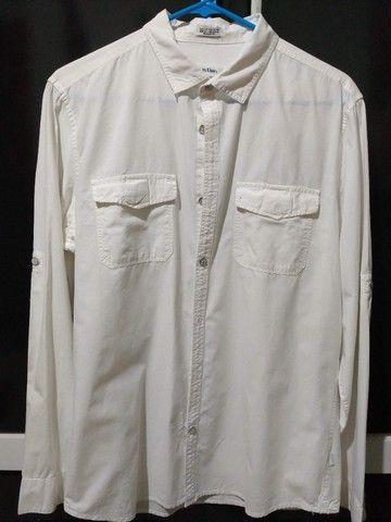 Camisa Calvin Klein - Tamanho M Off-White - Foto 4