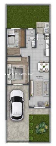 Casa para Venda em Ponta Grossa, Vila Hilgemberg, 2 dormitórios, 1 banheiro, 2 vagas - Foto 3