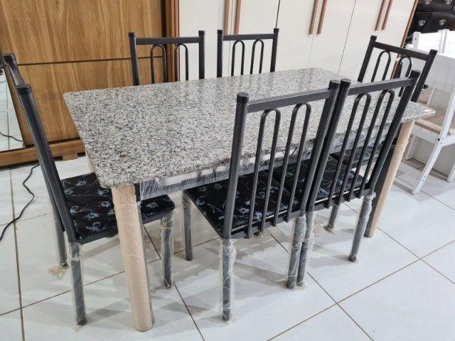 Mesa Com 6 Cadeiras Madri