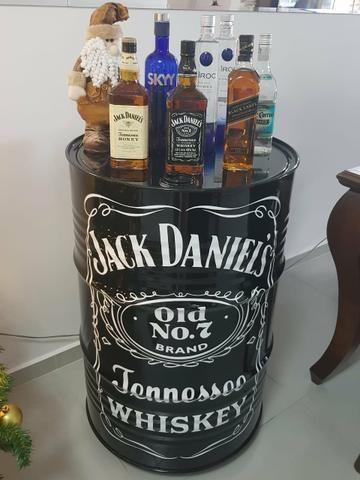Tambor Barril Tonel Decorativo Jack Daniel's x 12x R$ 25,0 x Entrega Grátis x Garantia 3