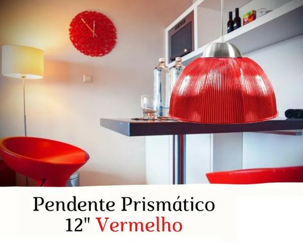 Luminária Prismática x 12 x R$ 7,99 x Entrega Grátis x Garantia 3 m - Foto 4