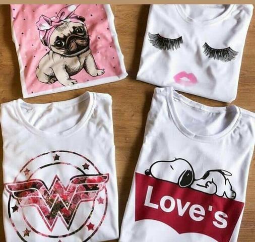 571f42d77d T-Shirt Feminina plusbellats - Roupas e calçados - Vila Finsocial ...