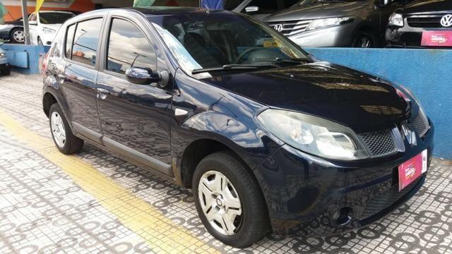 Renault Sandero Privilege 1.6 completa Azul 2009 flex - Foto 13