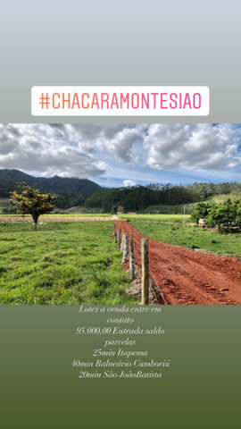 Sitio Chacara Tijucas Oliveira prox Porto Belo, Itapema, Bombinhas, Balneario Cambouriu