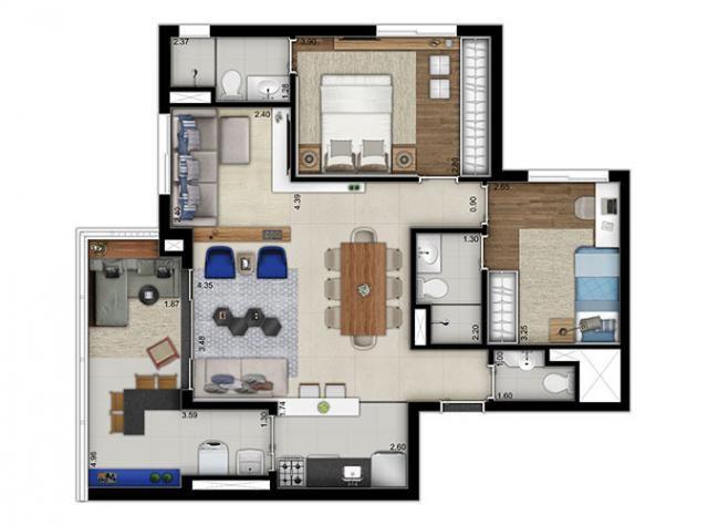 Elegante Apartamento em Vila Pompéia, com 3 dormitórios, sendo 1 suíte e área de 142 m² - Foto 14
