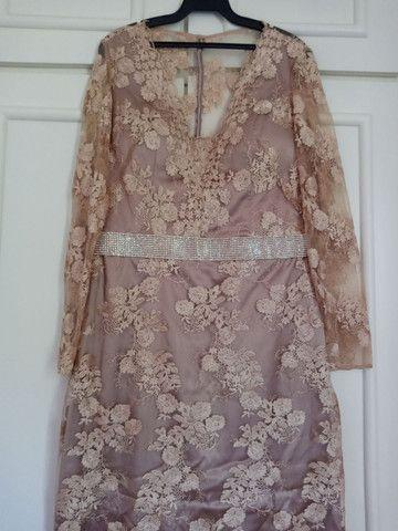 Vestido de festa longo de renda - Foto 4
