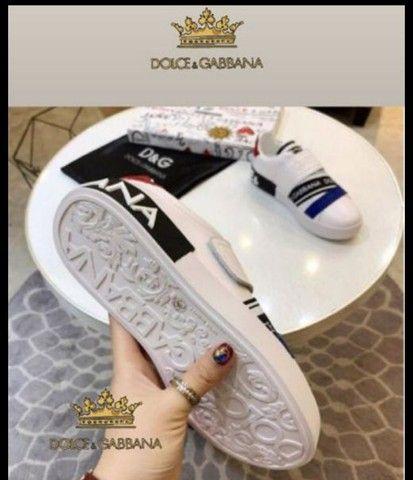 Dia das mães Tênis Dolce Gabbana linha Premium em couro número 38/39 - Foto 3