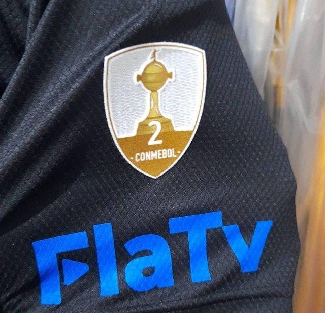 Camisa Flamengo Libertadores de jogo do jogador Diego Alves Preta com Azul - Foto 3