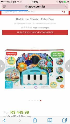 Tapete musical Fisher Price