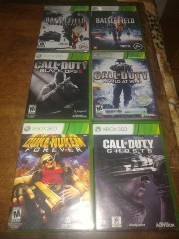 Jogos de tiro/guerra originais em excelente estado para Xbox 360