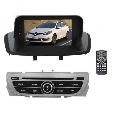 Central Multimidia para Renault Fluence 2011/17 M1 W7181 LCD - Preta/Cinza