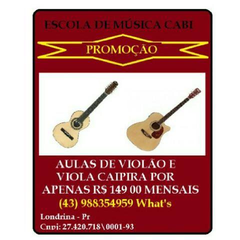 Promoção aulas de violão e viola caipira 149,00 mensais *