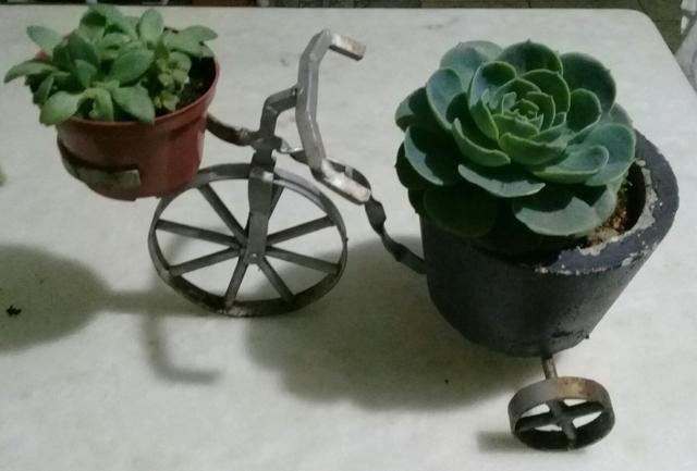 Bicicletinha floreira artesanais
