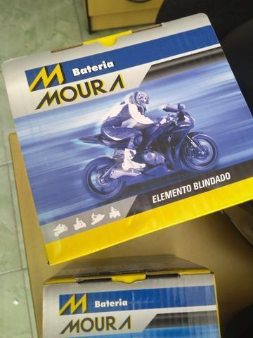 bateria moura mv12-e cb400 cb450 cb500 four entrega todo rio  - Foto 3