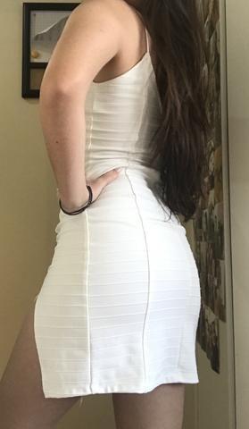 Vestido Branco Com Fenda