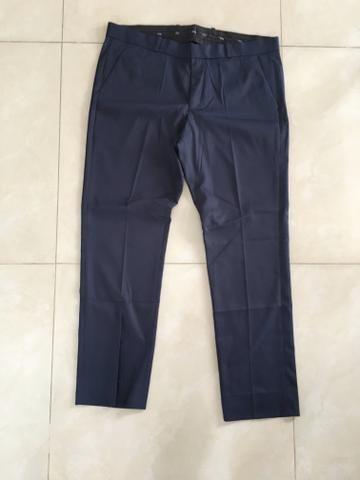 Calça de Alfaiataria - Azul Marinho - Foto 2