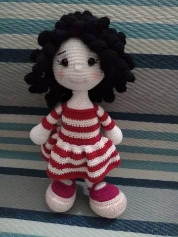Boneca amigurumi/ boneca crochê (Angela) no Elo7 | Novelo de ... | 480x360