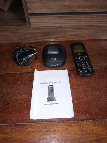 Telefone residencial (fixo) sem fio vivo de chip - Foto 3