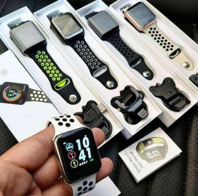 Relogio Inteligente Smartwatch F8 iPhone Android Troca Pulseira Várias Funções - R$ 180,00 - Foto 3