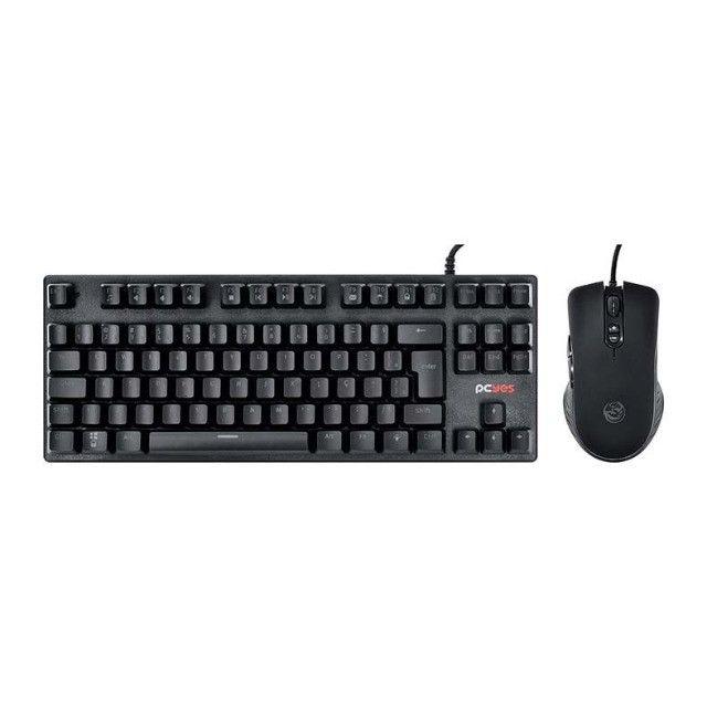 Kit Teclado e mouse Pcyes USB preto, MK50LR 32894 - Foto 4