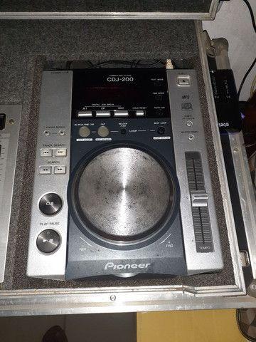 Par de cdj 200 mp3 com mix djm300s no case - Foto 4