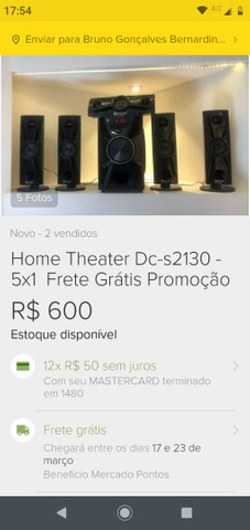 Home theater zero na caixa - Foto 2