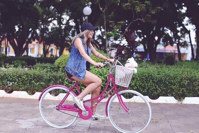 Linda bicicleta feminina