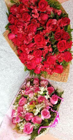 Buque de rosas naturais - Foto 2