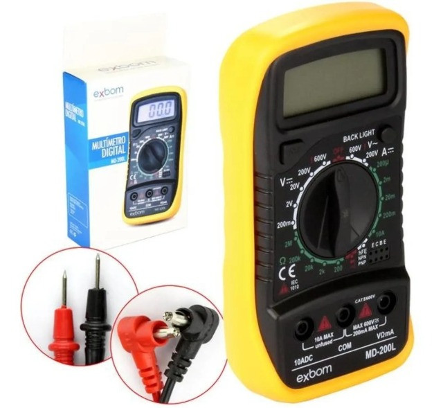 Multímetros Digital Profissional Portátil C/ Bateria 200l - Foto 3