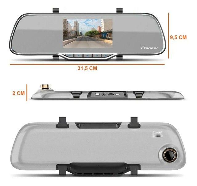 Espelho retrovisor Pioneer com câmera de Ré  - Foto 2