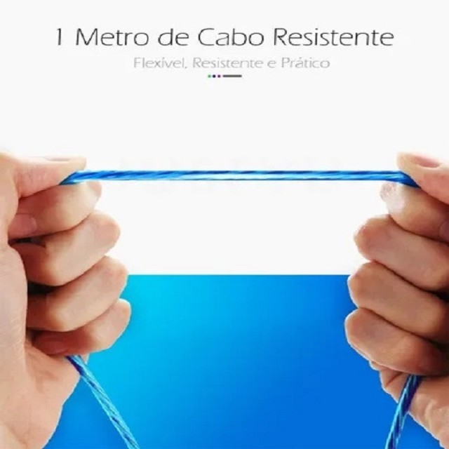 "Cabo Led Magnético Carregador ""Iphone""  - Foto 3"