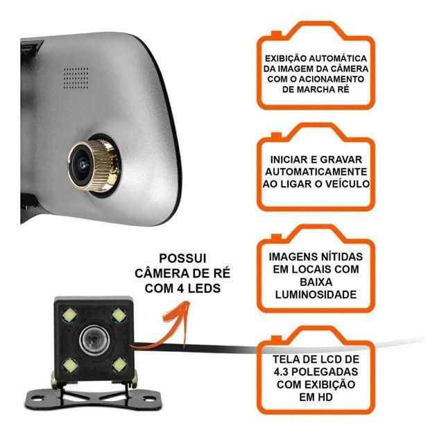 Espelho retrovisor Pioneer com câmera de Ré  - Foto 3