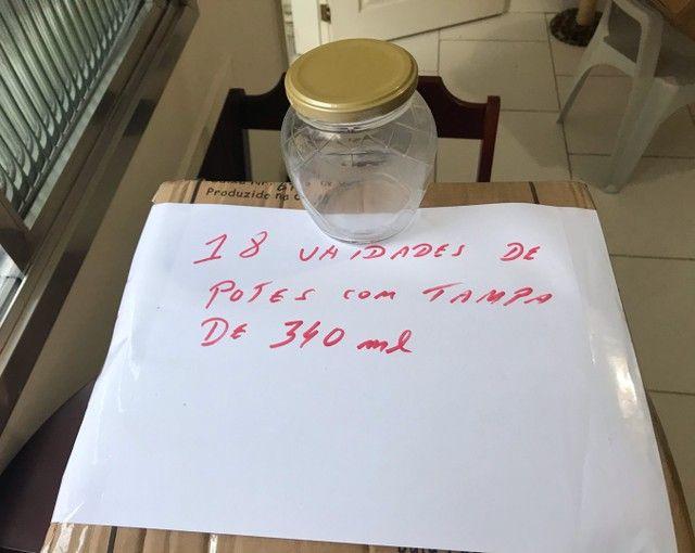 Vendo Potes de Vidro 340 ml