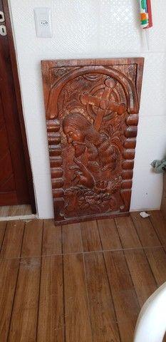 LINDO Quadro talhado em madeira natural - Foto 2
