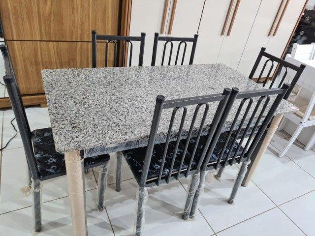 Mesa Com 6 Cadeiras Madri  - Foto 2