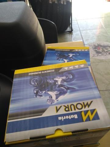 bateria moura mv12-e cb400 cb450 cb500 four entrega todo rio  - Foto 4