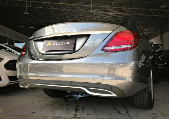 Mercedes Benz C180 Exclusive 1.6 Turbo. Cinza 2017/2018 - Foto 4