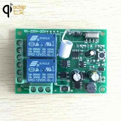 Receptor Controle Remoto Interruptor Ac 250 V 110 V 220 V 2ch Relé - Foto 2