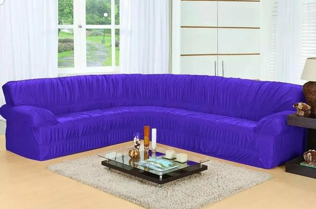 Capa de sofá de canto elasticada - Foto 2