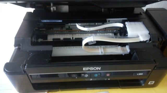 Impressora Epson L380 com defeito, jato de tinta entopido