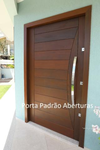 Portas de madeira maciça para Curitibanos - Foto 6