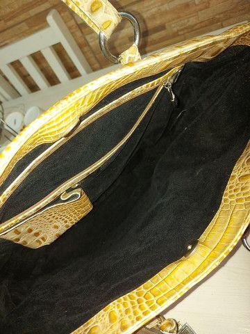 Bolsa de couro de crocodilo Lenny  - Foto 3