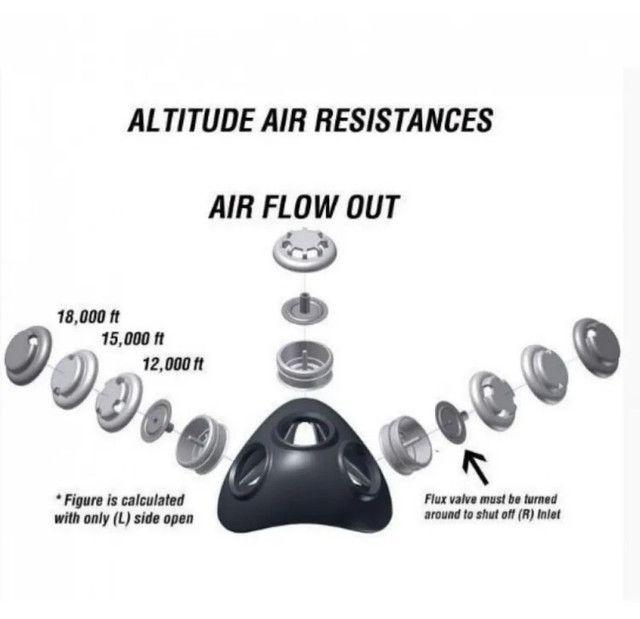 Máscara De Treinamento Funcional Respiratório Ls3801 Liveup - Foto 4