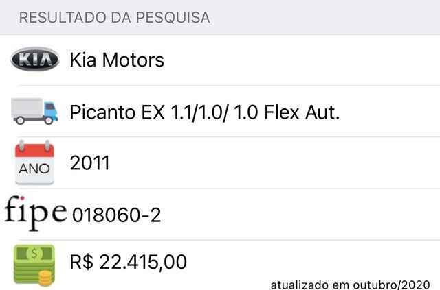 Picanto 2011 Automático Ipva Pago - Foto 13