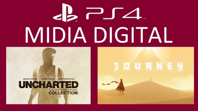 Jogo Uncharted Collection + Journey Ps4 Midia Digital