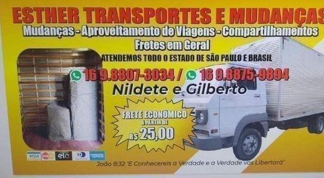 Caminhão baú indo Vazio de São Carlos para Piracicaba