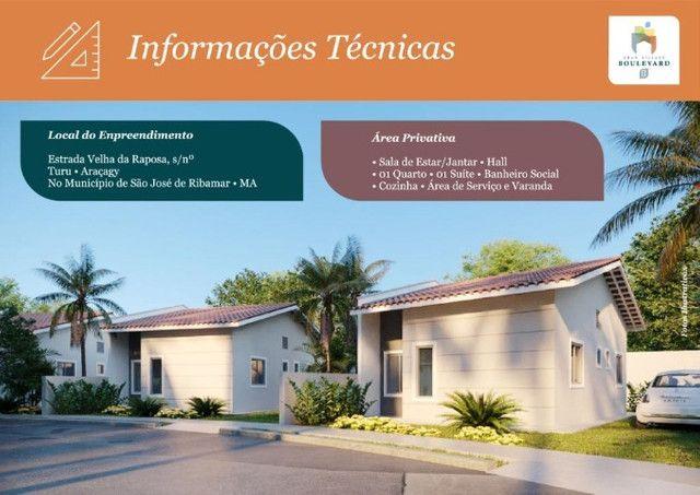 Condomínio, Village Boulevard II. Casas com 2 quartos, 1 suíte. - Foto 4