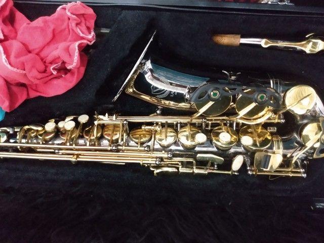 Sax alto Black nikel semi novo  - Foto 2